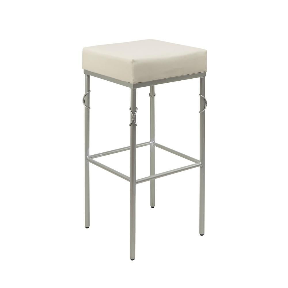 Silverwood Furniture Reimagined Gwyneth 24 In White Upholstered