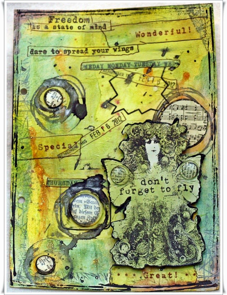 Scrappiness: Freedom is a state of mind, Art Journaling.