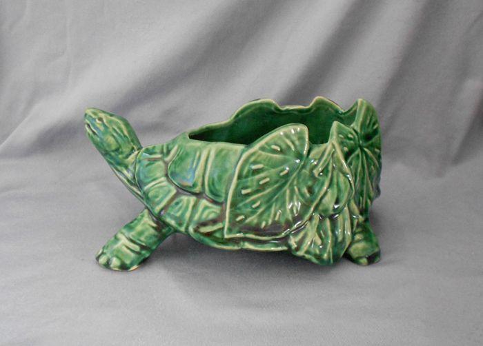 McCoy Pottery Turtle Planter 1970s
