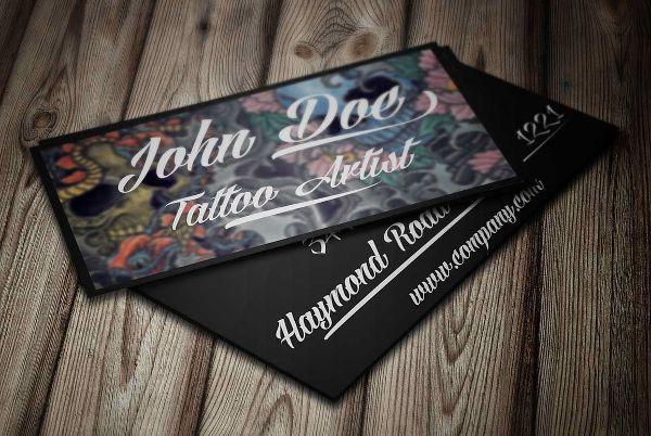 Tattoo-Artists-Business-Card.jpg (600×402) | Tarjetas de ...