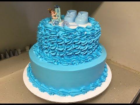Como Decorar Pastel De Baby Shower Para Niño   Facil...   YouTube