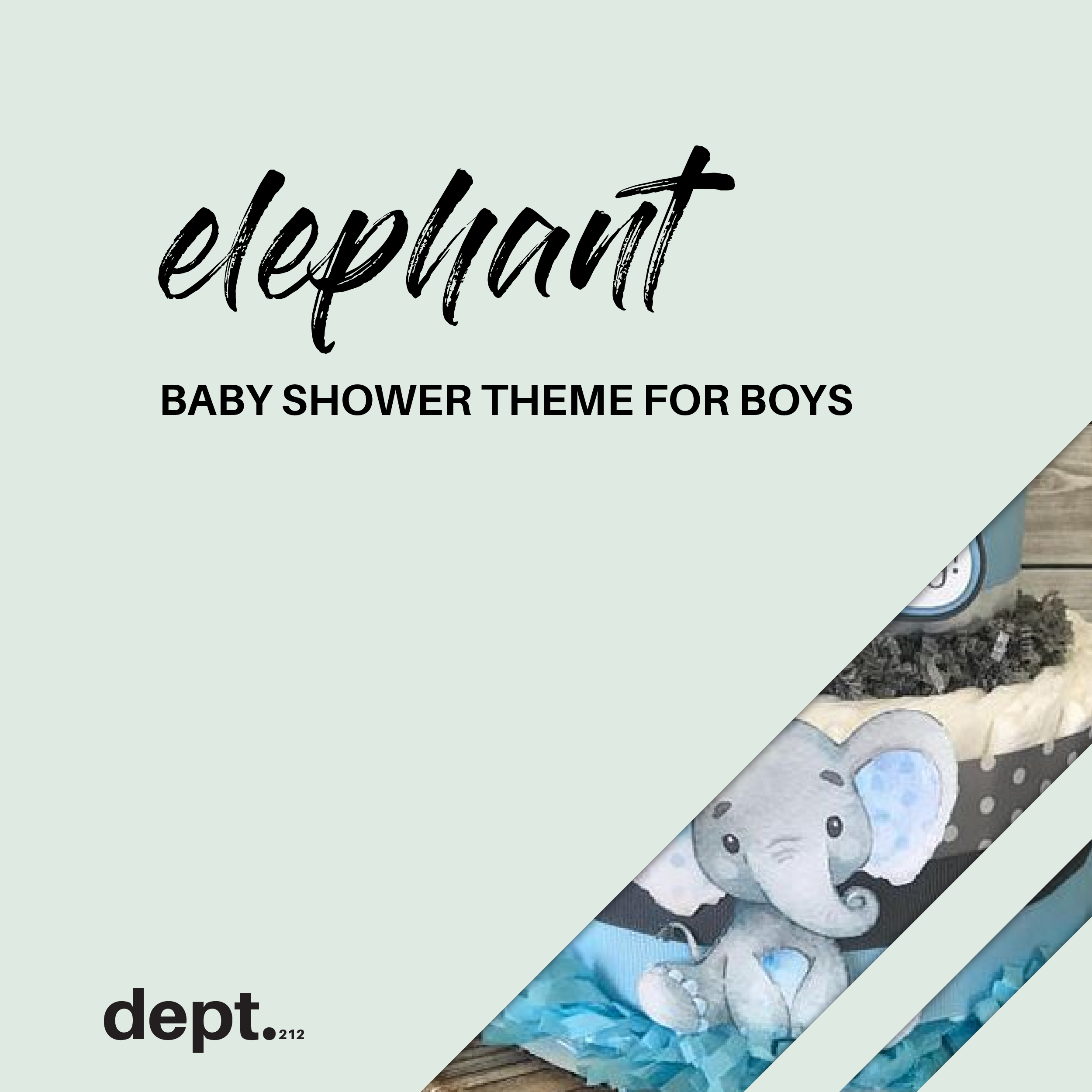 A Board For All Of Your Elephant Baby Shower Ideas For