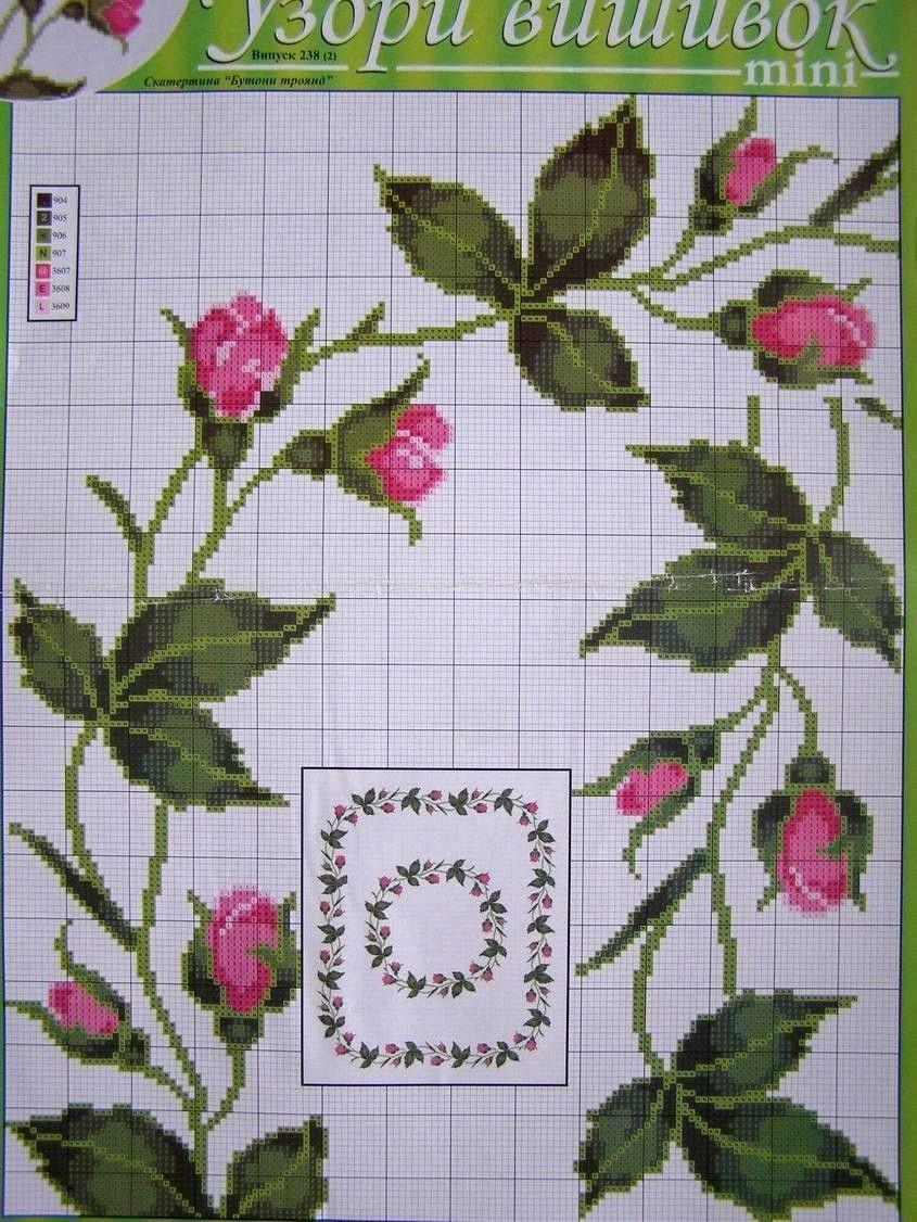 Details About Uz 7 Cross Stitch Ukrainian Embroidery Flower Patterns Tablecloth Pillow Napkin Servilletas Punto De Cruz Punto De Cruz Patrones Punto De Cruz Bebe Patrones