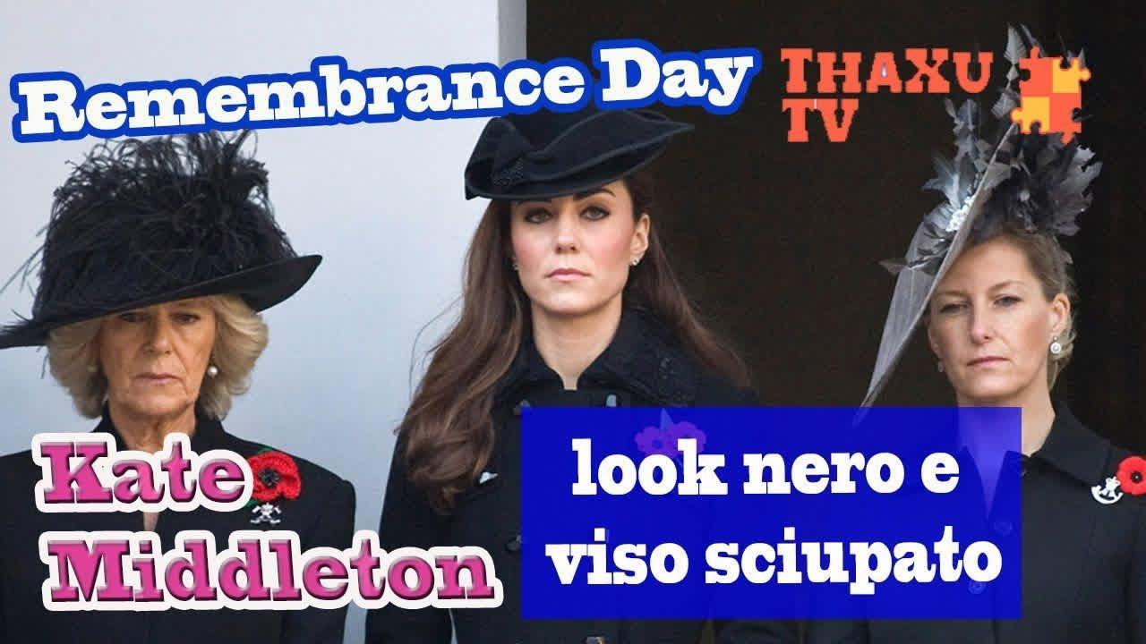 Kate Middleton al Remembrance Day  look nero e viso sciupato. È incinta  909f86d84e9