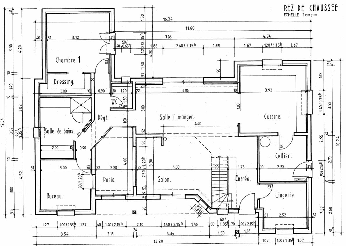 Plans int rieur notre projet maison plan lecture de plan dessin d 39 architecture en 2019 - Plan d interieur de maison ...