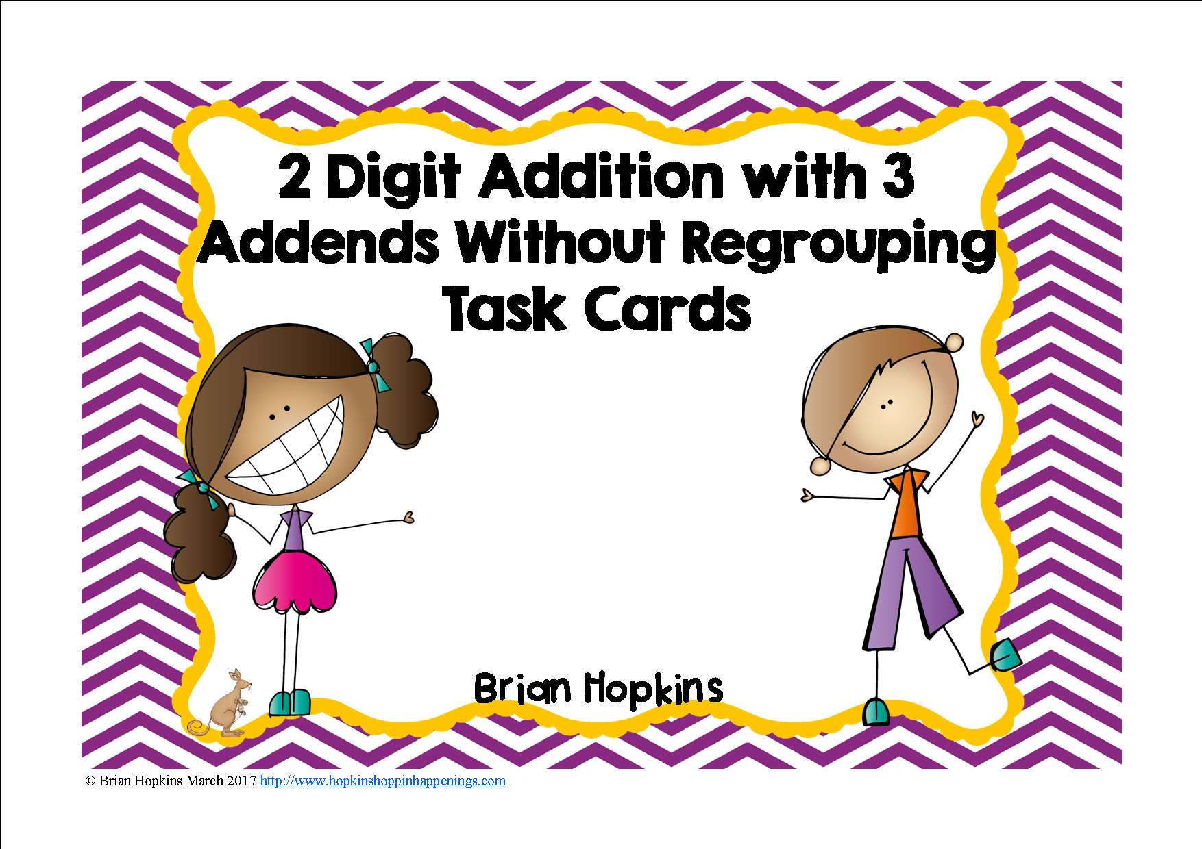 worksheet Addends 2 digit with 3 addends addition without regrouping task cards cards
