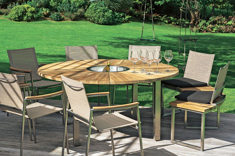 Table de #jardin en teck avec rallonge | Vivre au jardin ...