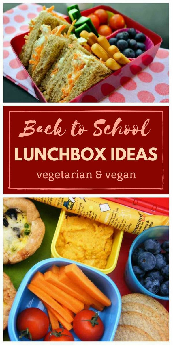 Back to School Vegan & Vegetarian Lunchbox Ideas images
