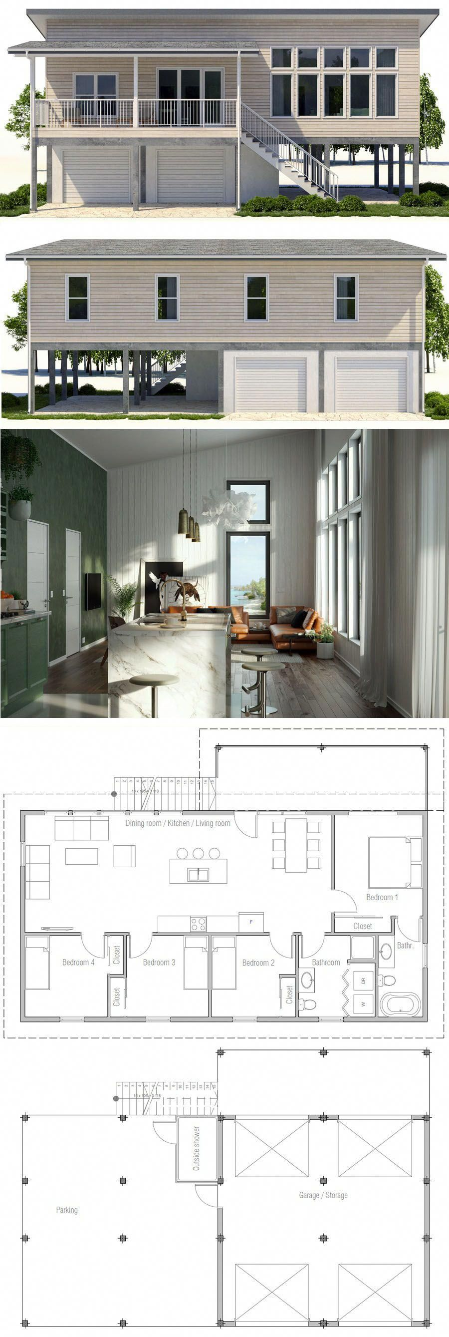 Arquitetura planta de casa casas plantadecasa casasamericanas beach house plans also rh pinterest