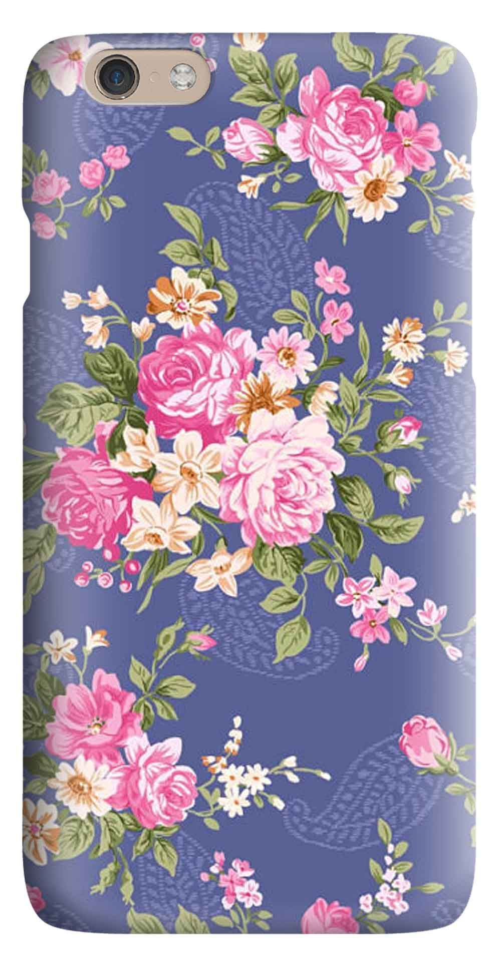 Whatskin DIY Style Artistic Flowers Series 04 Hard Back Cover for iphone 6
