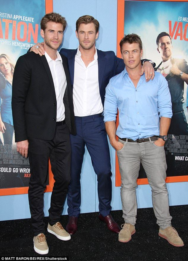 Brotherly Love Liam Chris And Luke L R Pictured In 2015 At The