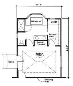 Master Bedroom Floor Plans Addition