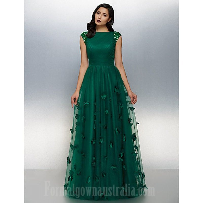 Australia Formal Evening Dress Dark Green Plus Sizes Dresses ...