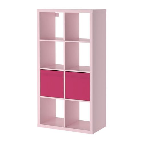 kallax dr na shelving unit with 2 inserts light pink ikea ideas for the house pinterest. Black Bedroom Furniture Sets. Home Design Ideas