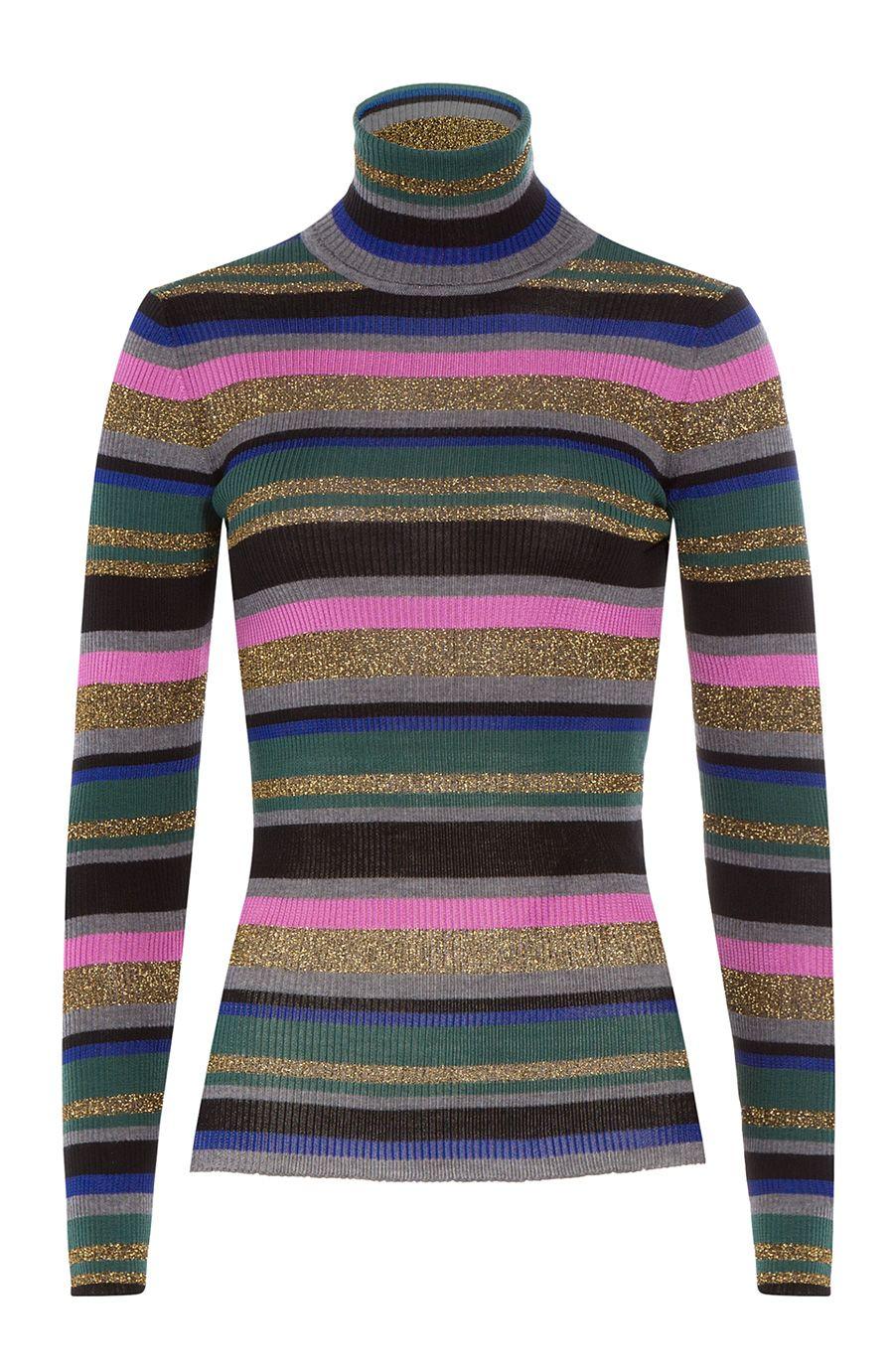 6c8728ccd378 EMILIO PUCCI Striped Wool Turtleneck Pullover