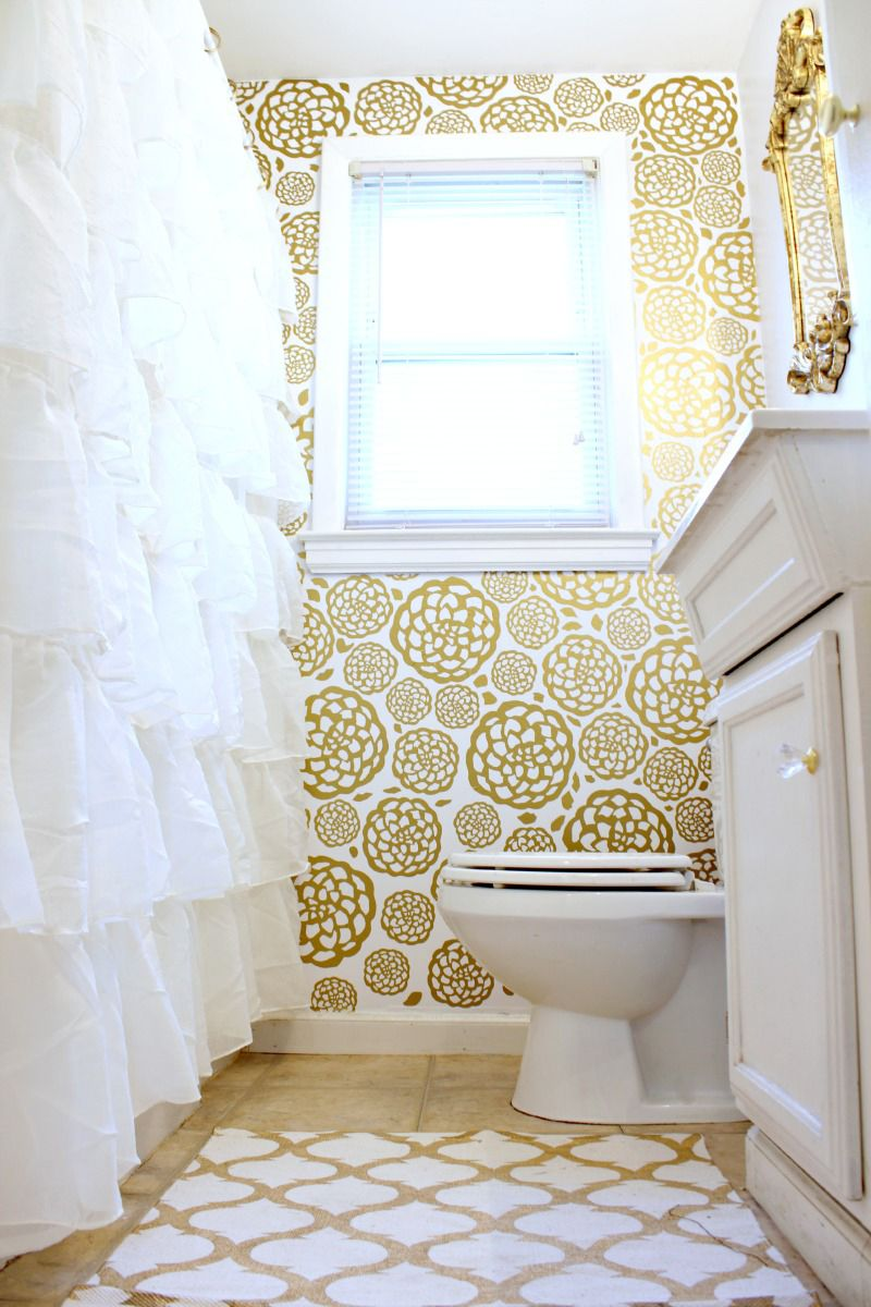 Gold Glam Bathroom Makeover | Blogger Home Projects We Love ...