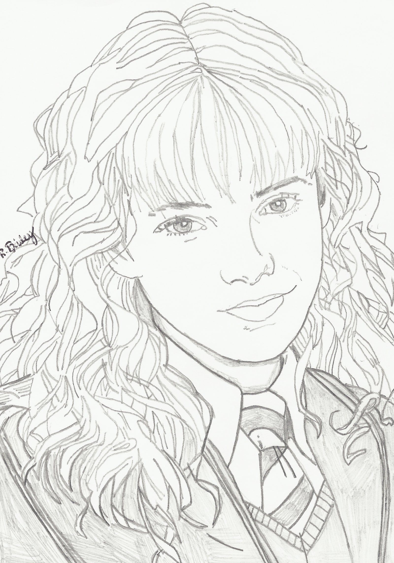 Hermione Granger (With images)   Harry potter drawings ...
