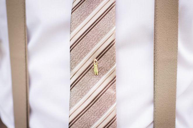 Custom tie pin made for the Groom!