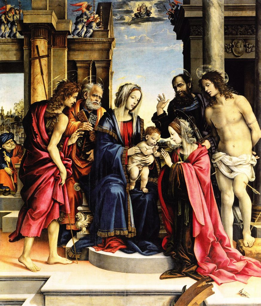 Filippino Lippi - Matrimonio mistico di santa Caterina di Alessandria - 1501 - Bologna, chiesa di San Domenico