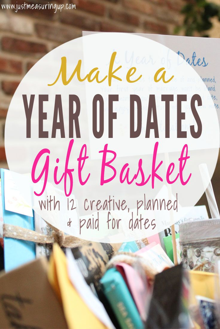 Year of dates wedding gift with printables diy gift ideas