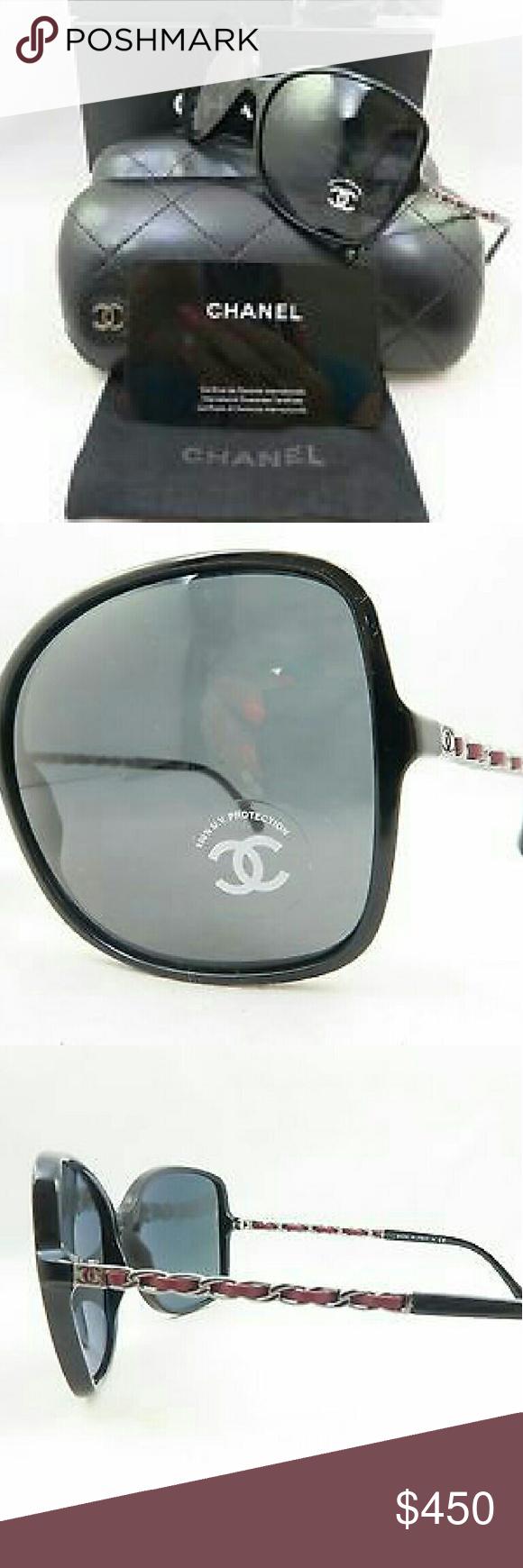 Chanel Polarized Sunglasses New and authentic  Chanel Polarized Sunglasses  Black and red frame  Includes original case, cloth and box Chanel  Accessories Glasses