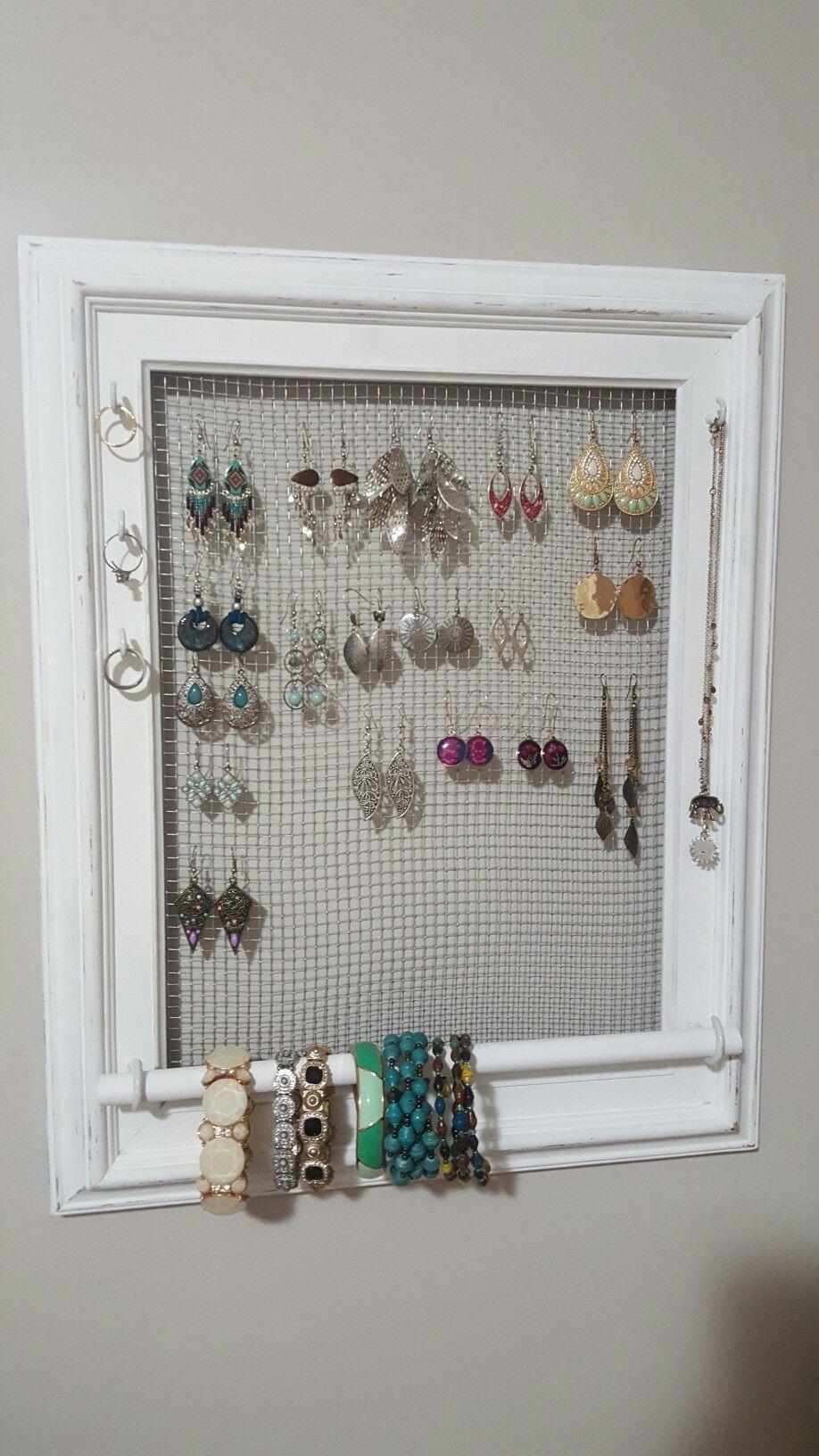 Finally Got Around To Making My Own Jewellery Organizer Thanks To