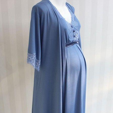 07297c3b1 Para a maternidade  conforto e beleza são fundamentais! Que tal a Camisola  Beatriz Regata Azul Real   3  maternidade  enxoval  mamaedeprimeiraviagem  ...