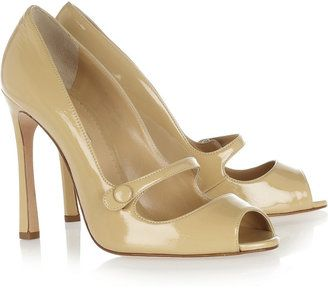 Oscar de la Renta Selma patent-leather pumps
