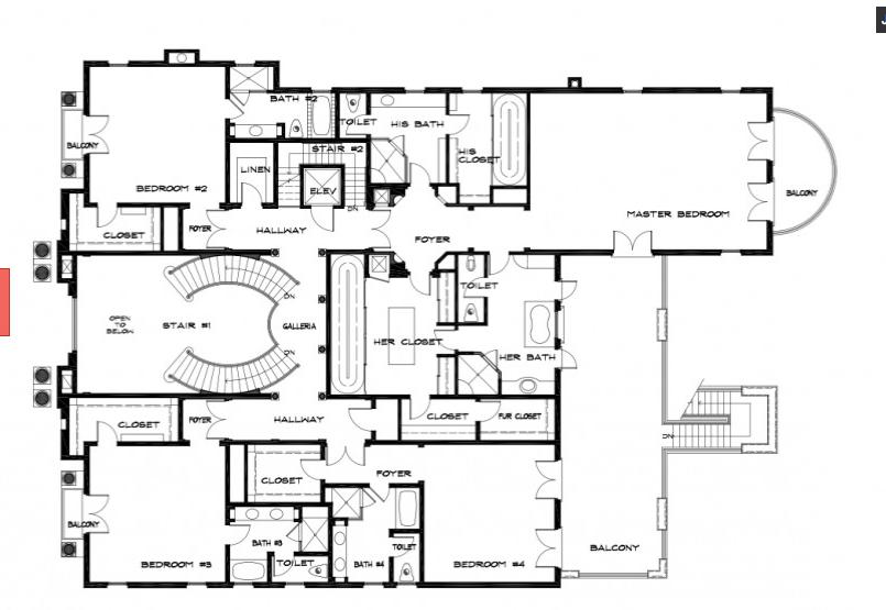 Location 1714 Stone Canyon Road Bel Air Los Angeles Ca Square Footage 19 000 Bedrooms Amp Bathrooms 11 Be Bel Air Mansion Floor Plan Floor Plans