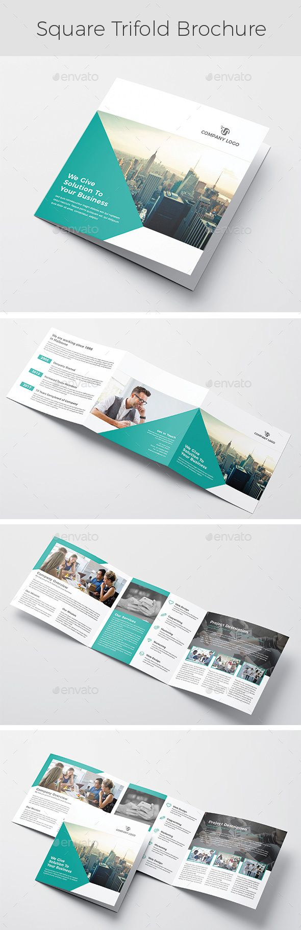 Square Trifold #Brochure - Brochures Print Templates | indesign ...