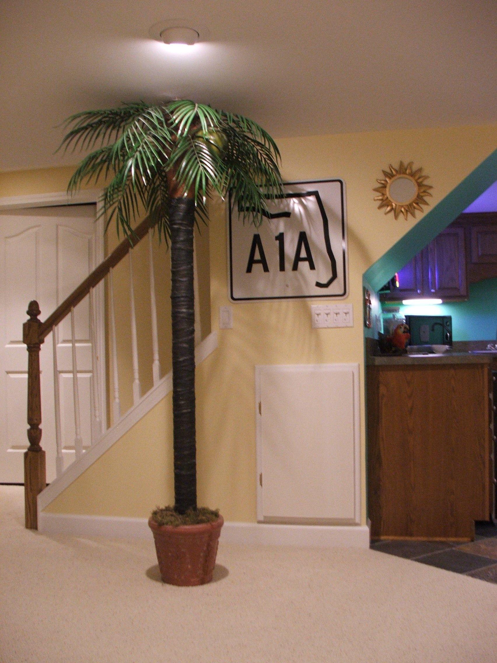 Basement Pole Cover Ideas Part - 30: Hide A Basement Post With A Palm Tree