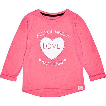 Mini girls all you need is love print t-shirt £8.00