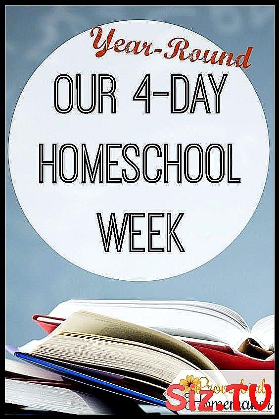 Year-Round 4-Day Homeschooling Schedule Weekly