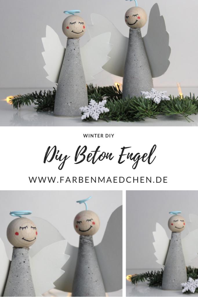 DIY Engel aus Beton selber machen – Winter Deko