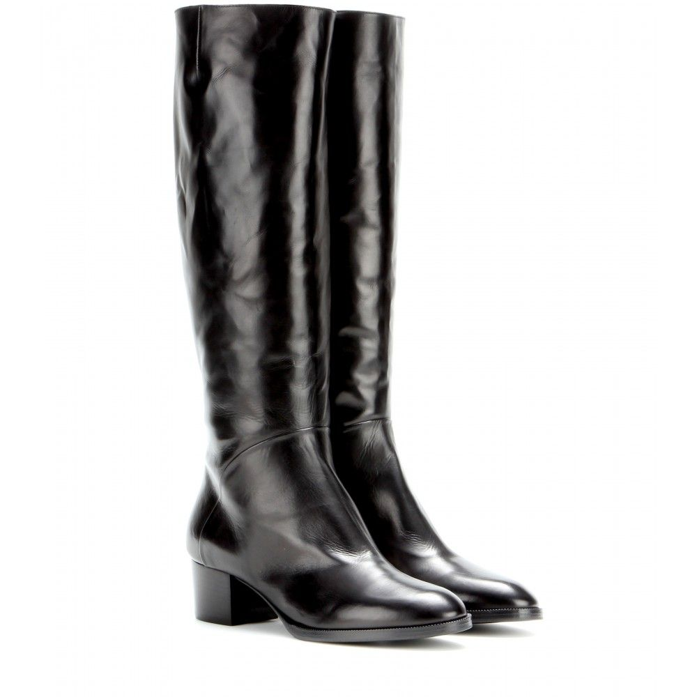mytheresa.com - Dries van Noten Leather boots - Luxury Fashion for Women