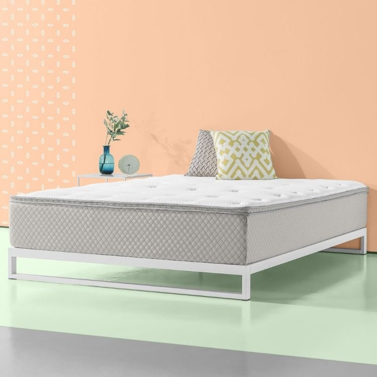 Pressure Relief Green Tea Memory Foam Mattress Pad And Cover With