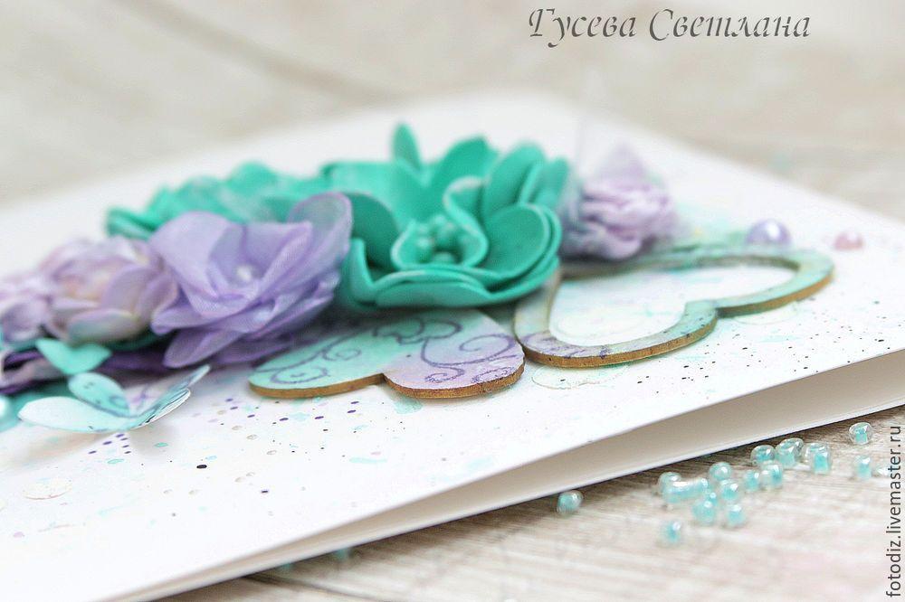 Украсить открытку цветами из фоамирана, поздравлениями марта коллегам