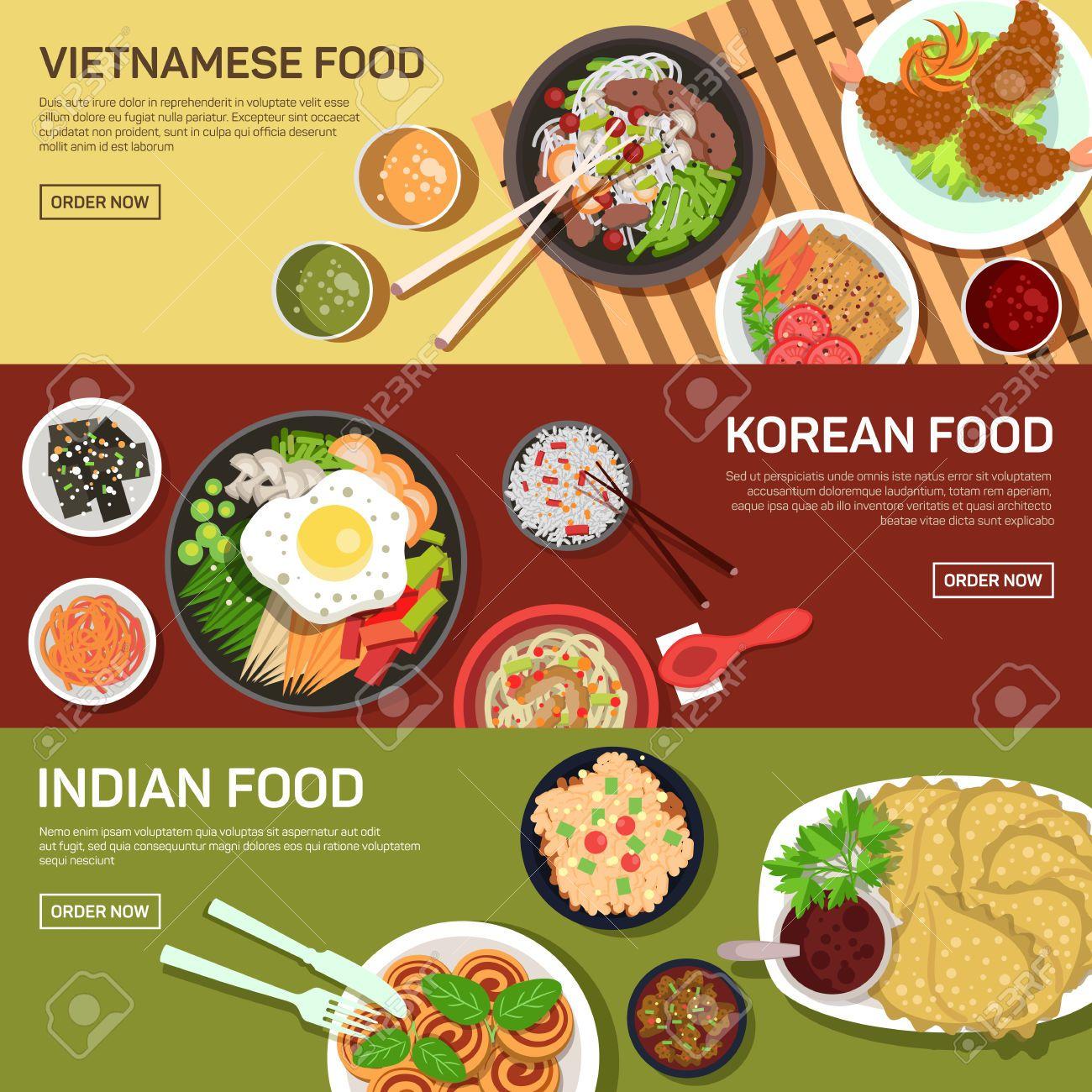 Asian Street Food Web Banner , Thai Food , Japanese Food , Chinese ...