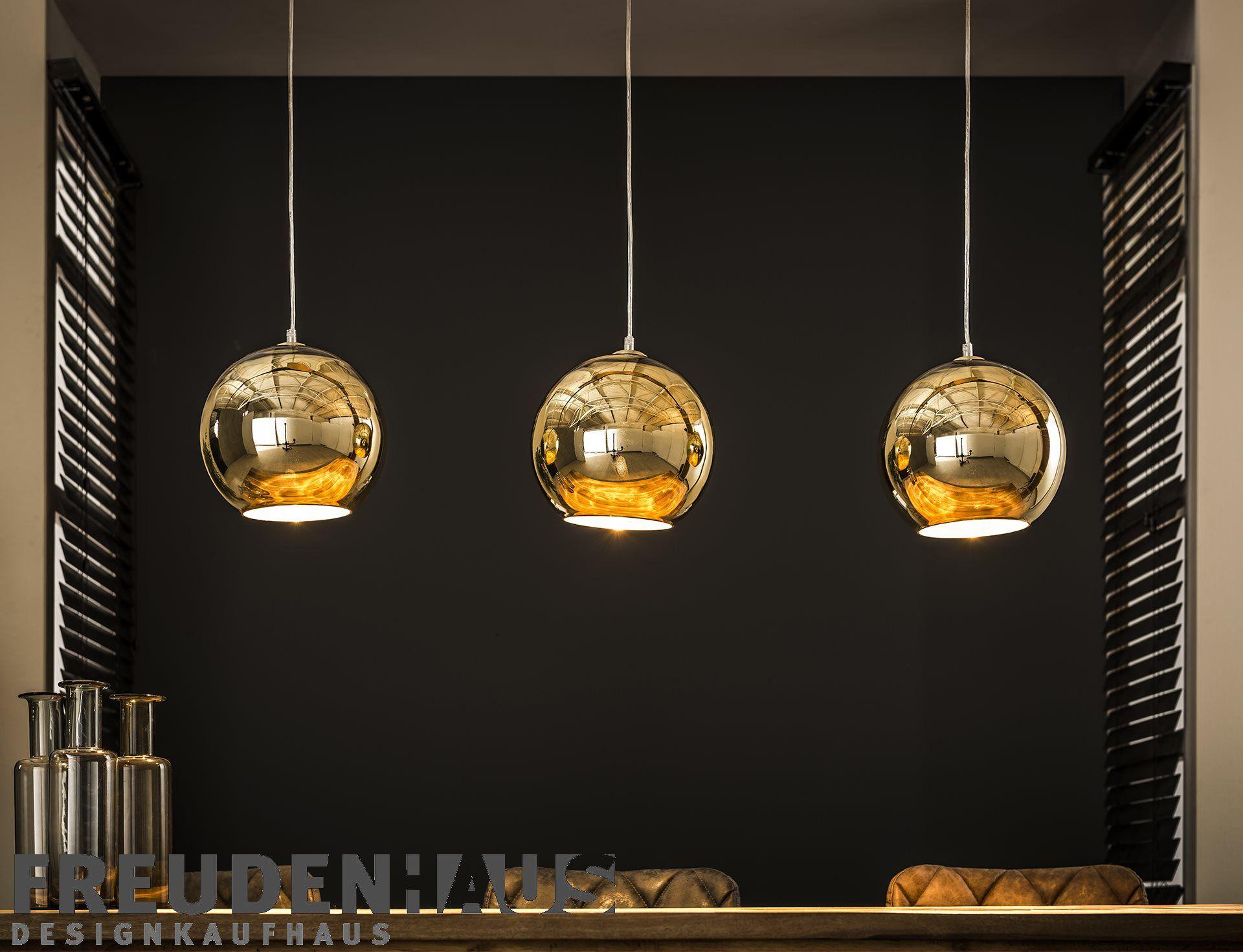 Hangelampe Retro Ball 3 Kugeln Gold Beleuchtung Hangelampen Freudenhaus Designkaufhaus Lampe Hangelampe Esstisch Hange Lampe