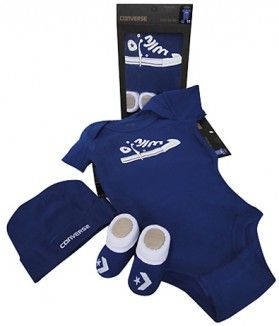 9f99d13723fc2 Converse Baby 3 Piece Gift Set in a gorgeous blue. Perfect gift for ...