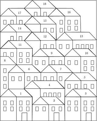 Hillside Houses Blocks 10 and 11 (Pretty Little Quilts