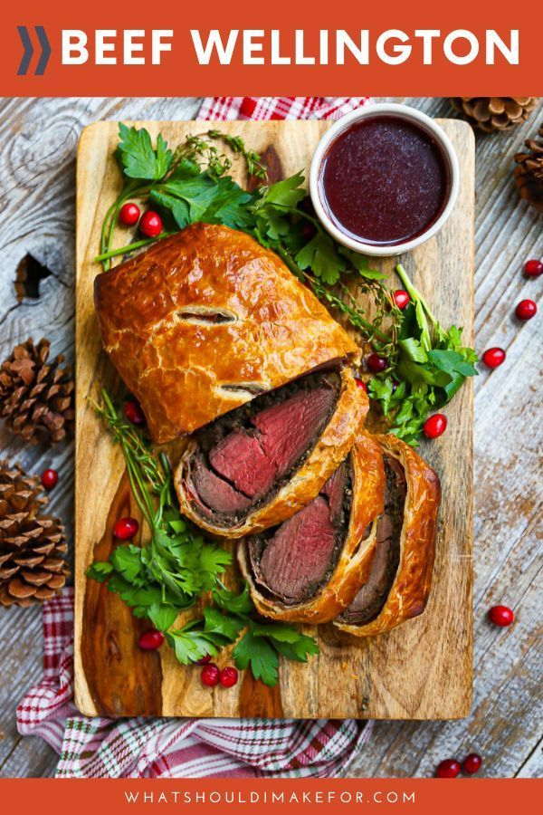 Beef Wellington With Red Wine Sauce Recipe Beef Wellington Beef Wellington Recipe Wellington Food