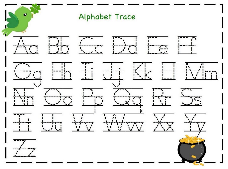 Alphabet Letter Tracing Worksheet For Preschool In