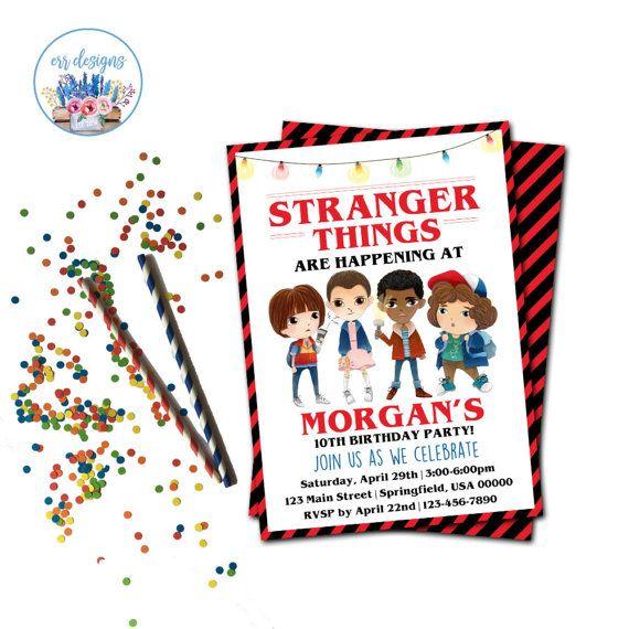 Stranger Things Invitation Stranger Things Birthday by ERRdesigns