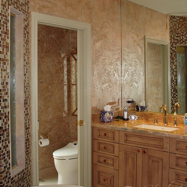 Master Bath Finished With Modern Masters Metallic Plaster | Decorative  Plaster Wall Finish | Beautiful Project