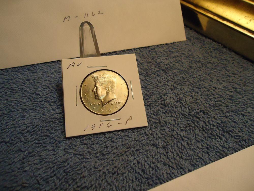 1996p kennedy half dollar clad almost unc m