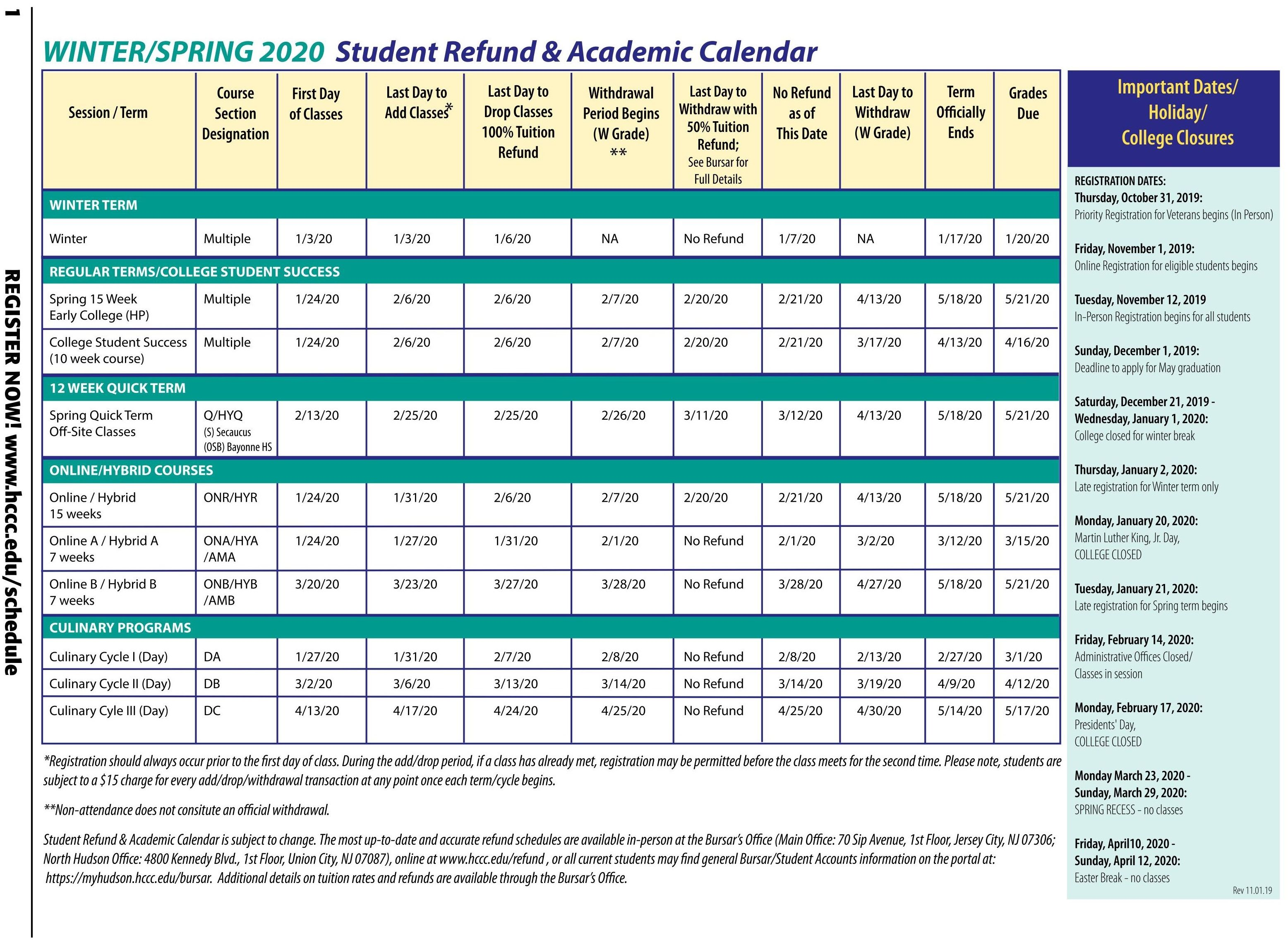 Collin College 2021 Calendar Pictures