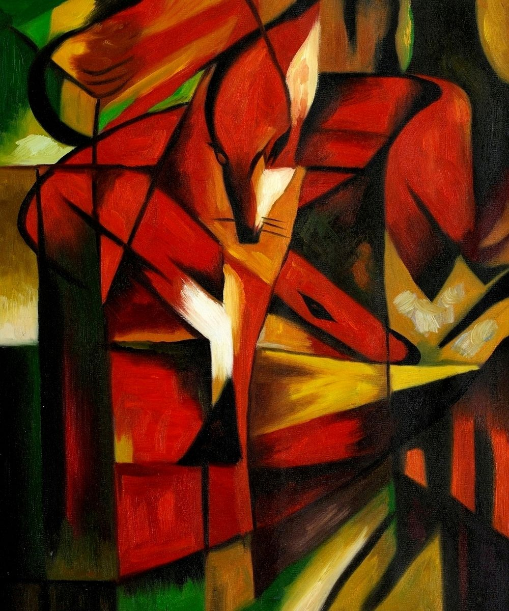 The Foxes Franz Marc Oil Painting Reproduction At Overstockart Com Oil Painting Inspiration Oil Painting Reproductions Painting