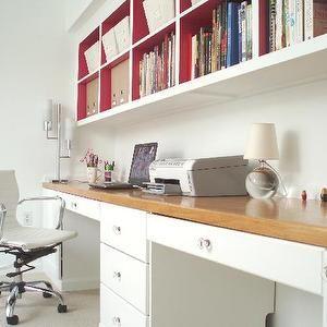 Shelves Over Desk - Design, decor, photos, pictures, ideas, inspiration, paint colors and remodel