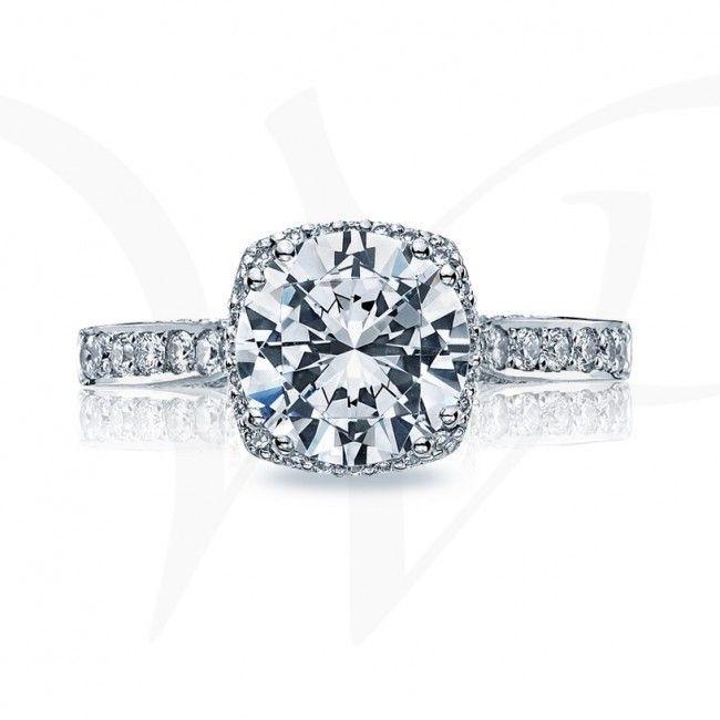 """Dantela"" Cushion Bloom Diamond Engagement Ring1"